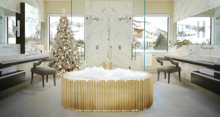 luxury bathroom Discover How To Add a Holiday Touch to Your Luxury Bathroom feat 11