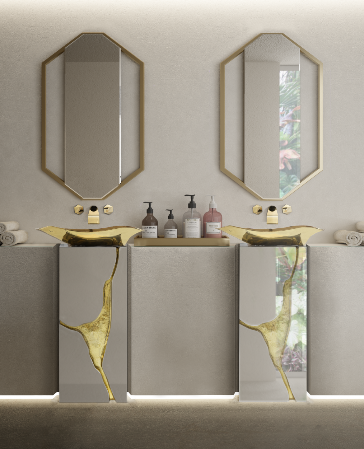 2020 Spring Interior Design Trends: Colors, Textures and Patterns 2 2020 spring 2020 Spring Interior Design Trends: Colors, Textures and Patterns MV LAPIAZ FREESTAND GOLD 2 1