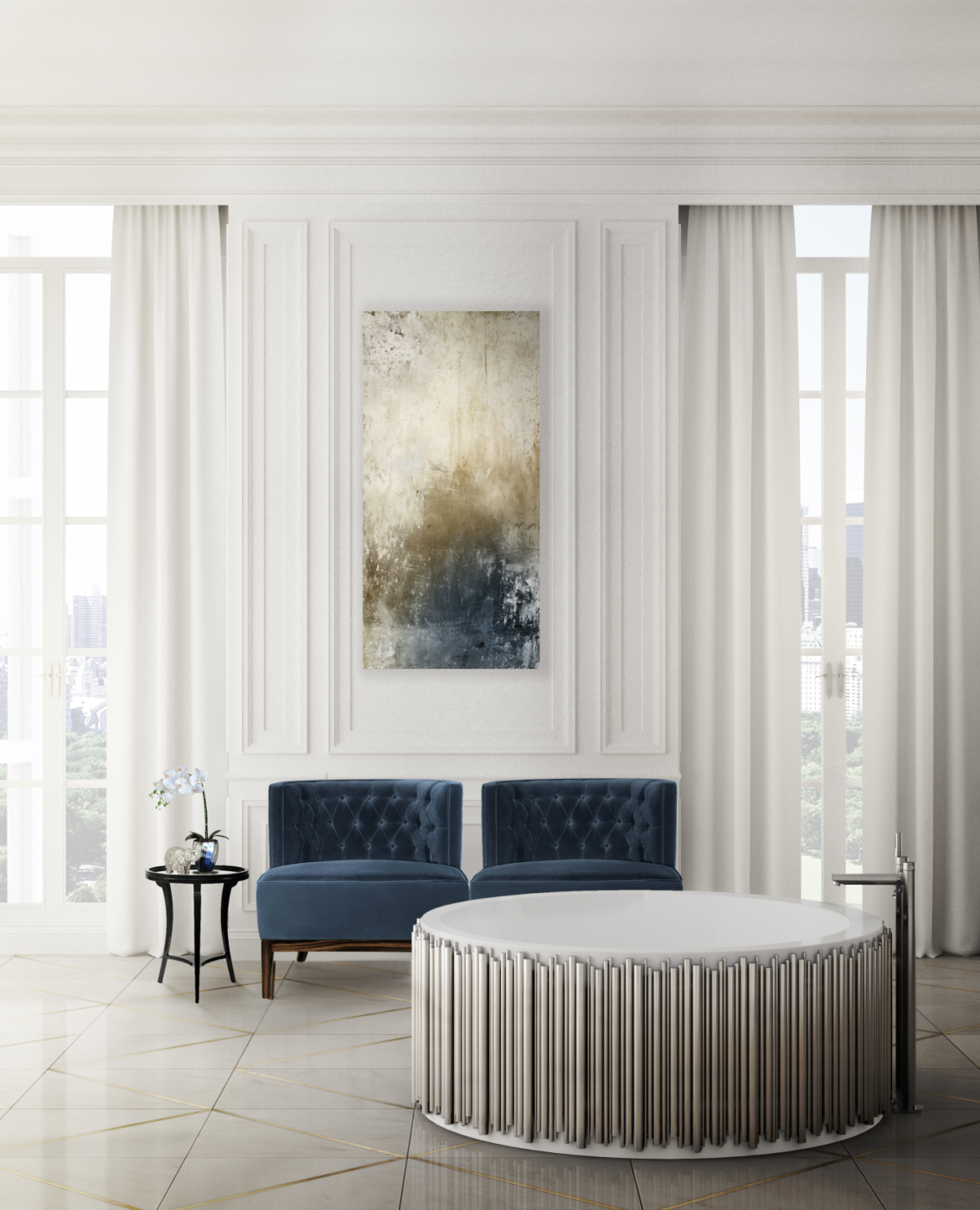 2020 Spring Interior Design Trends: Colors, Textures and Patterns 1 2020 spring 2020 Spring Interior Design Trends: Colors, Textures and Patterns bourbon mais banheira ambiente
